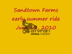 Sandtown Farms ATV ride. Batesville Arkansas
