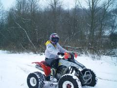 Riding in the snow.........