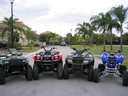 4 of seven of my family's quads#1