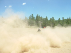 Dust trail
