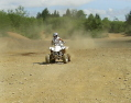 Donny making dust fly